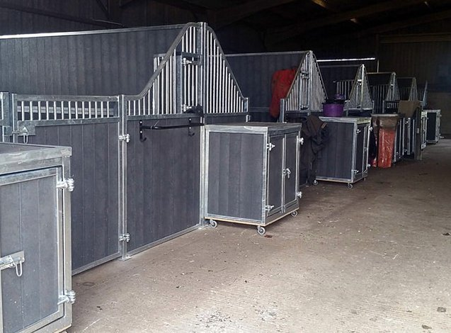 grey coloured stable
