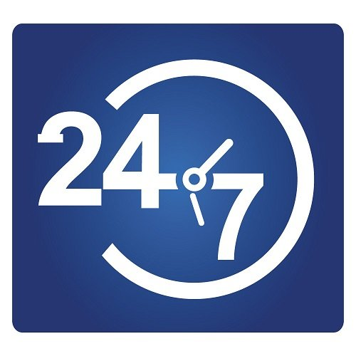 24 hours service sign