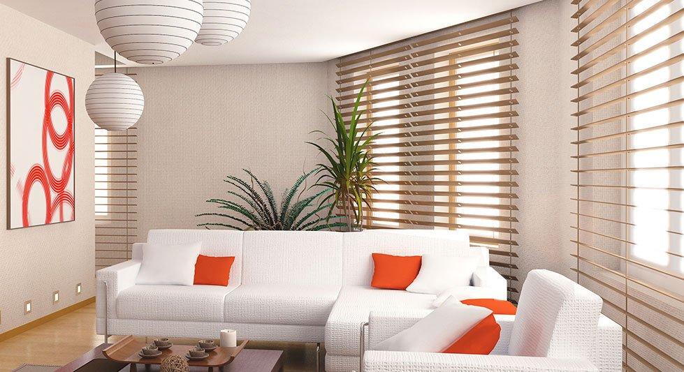 Blinds inside a home
