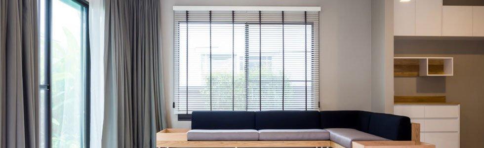 Blinds installed inside a home