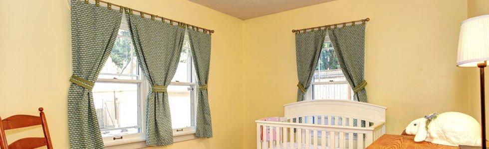 Curtains inside a children room
