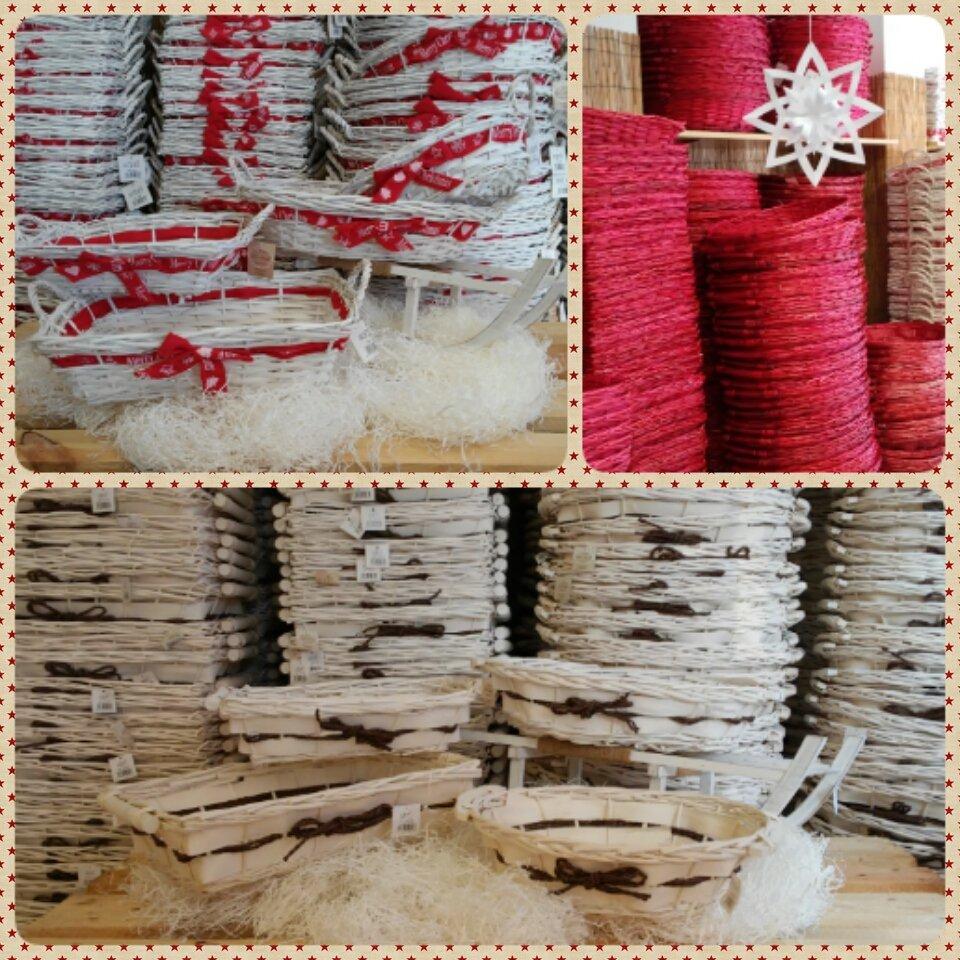 Cesterie per confezioni natalizie
