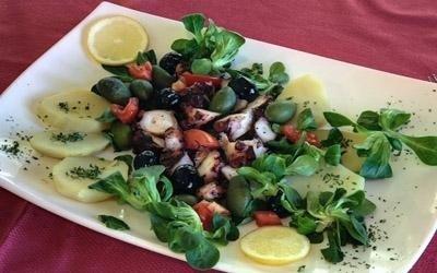 polipo tiepido patate e olive