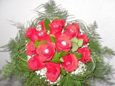 bouquet boccioli rose rosse