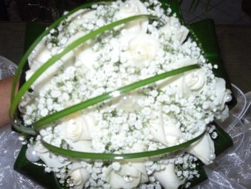 bouquet rose bianche e bianco