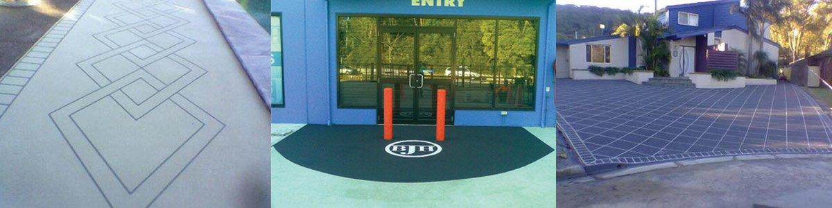 spray pave central coast  concrete floor shop entry