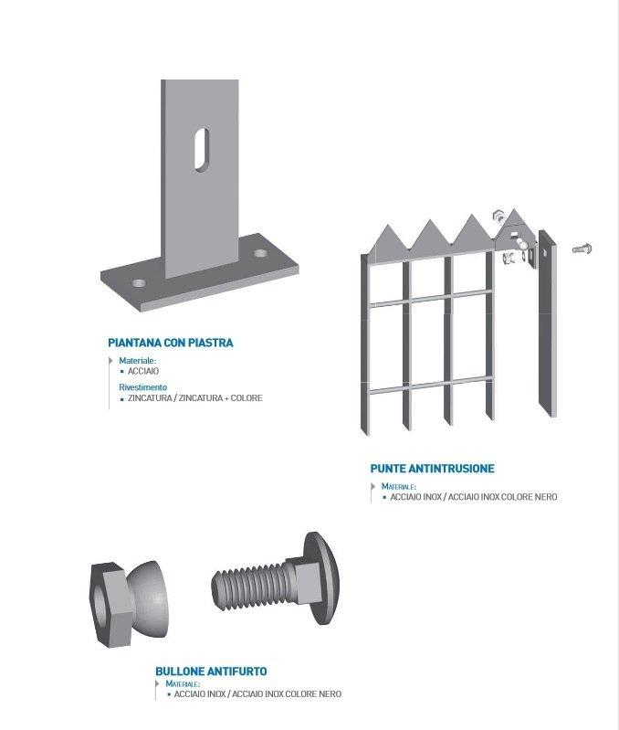 recinzioni in grigliato - accessori
