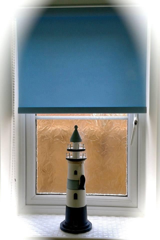 seaside blue blinds