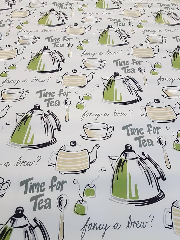 tea patterned blinds