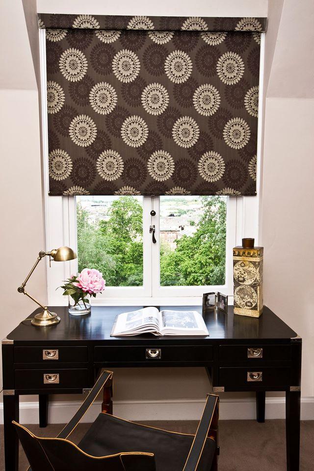 swirl patterned blinds