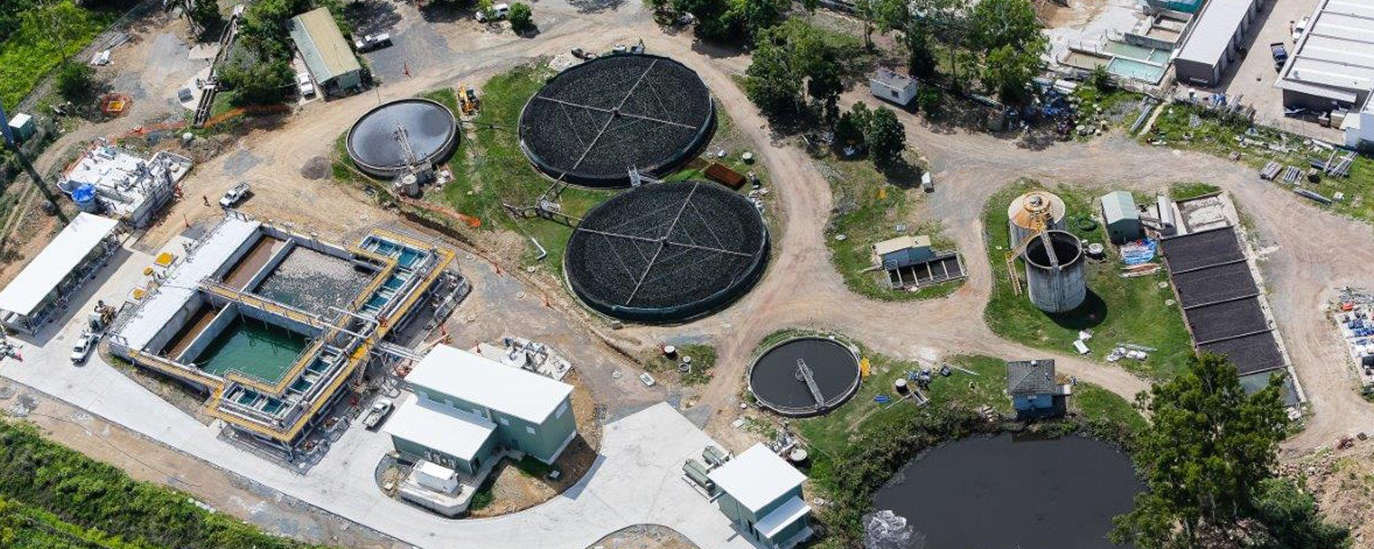 Aerial view of the recent completed project by aquaprojects