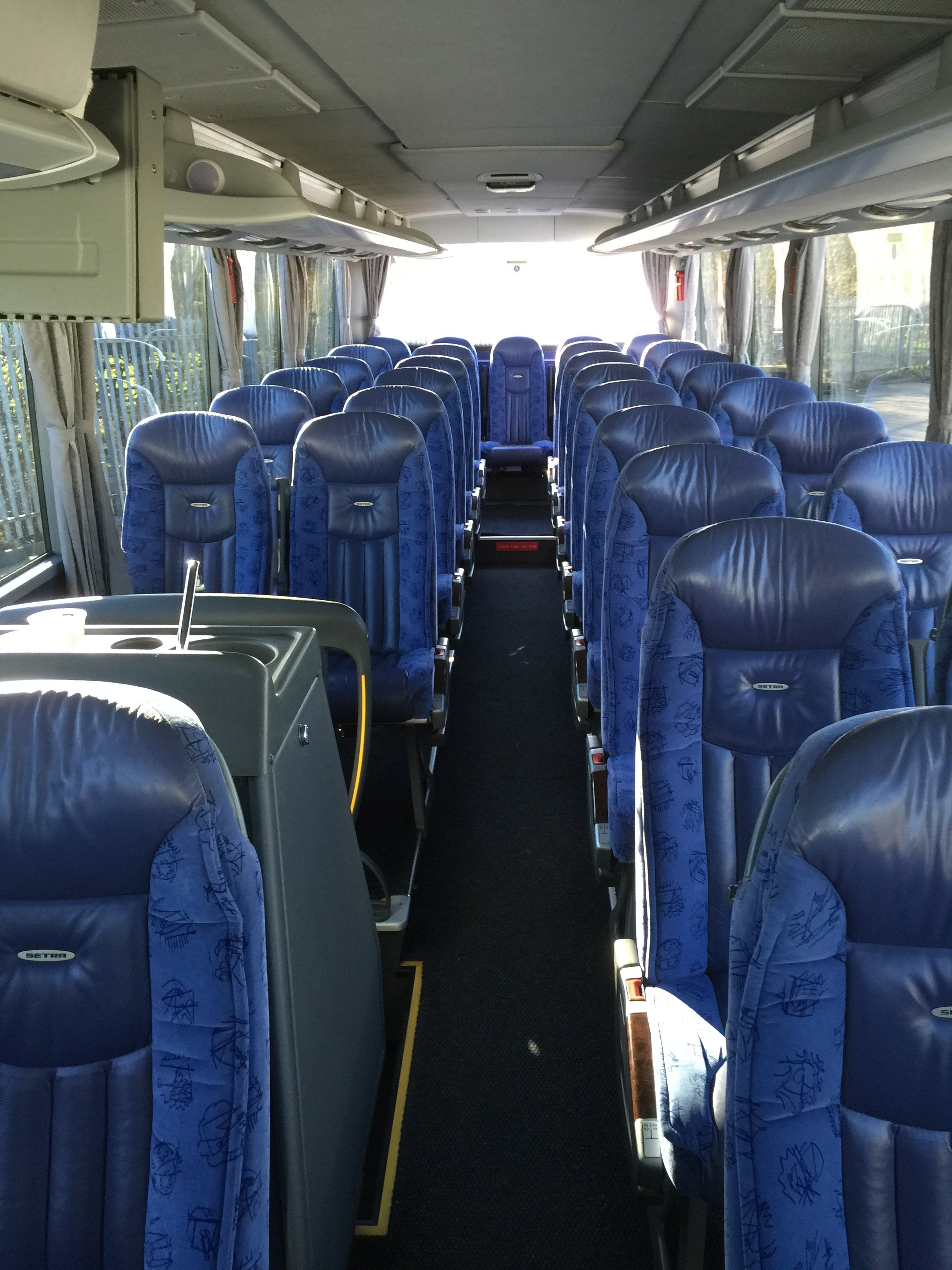interiors of the bus