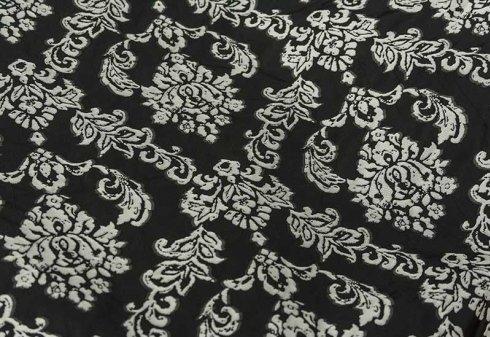 tessuto da tappezzeria nero e bianco