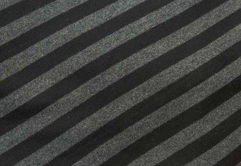 tessuto a righe diagonali nere e grigie