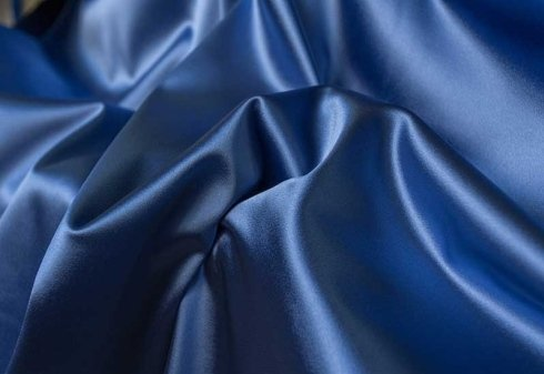 tessuto blu lucido