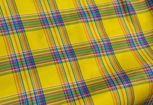 tessuto giallo a quadri