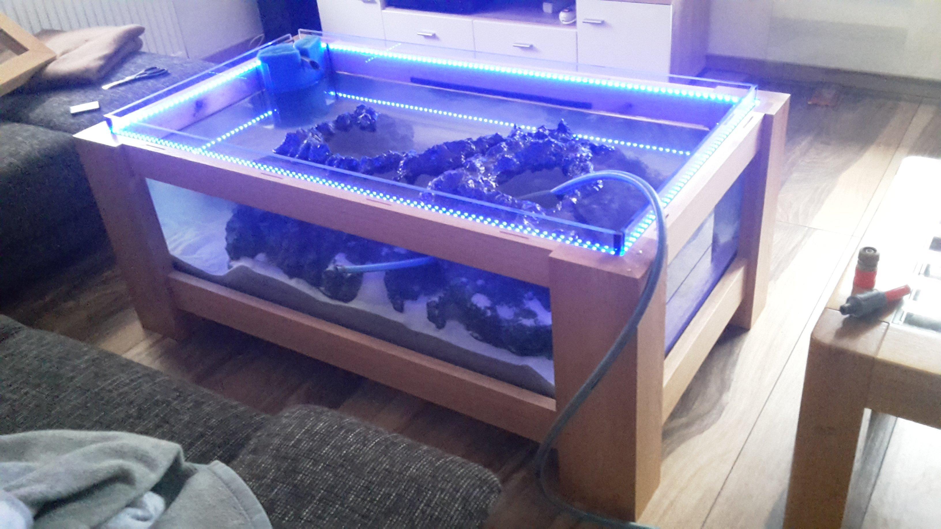 Coole Dekoration Tisch Aquarium Guenstig 2 #19: Tisch Aquarium Günstig: Wasser Szenerie Aquarium Tisch Tischst?nder .