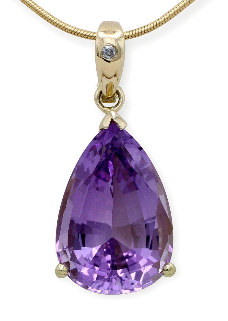 girls love pearls amethyst drop shape diamond enhancer