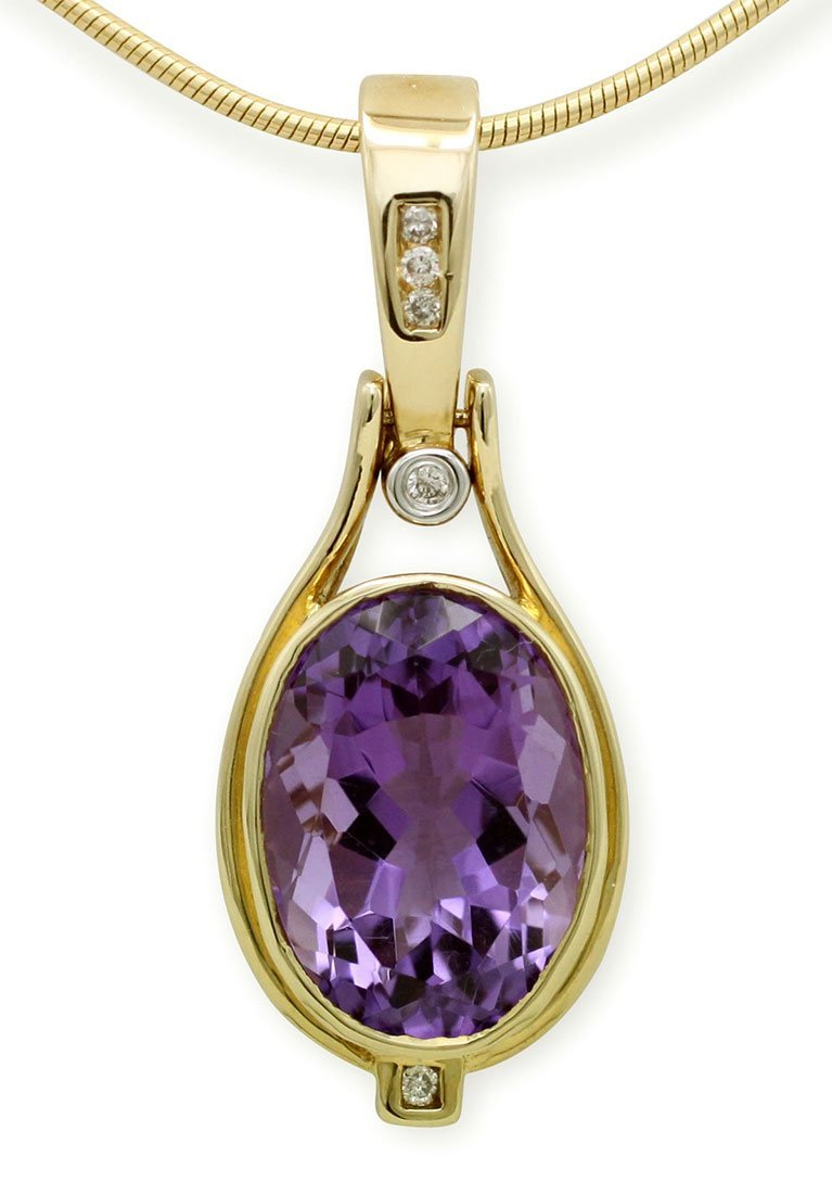 girls love pearls amethyst oval diamond swing bail enhancer