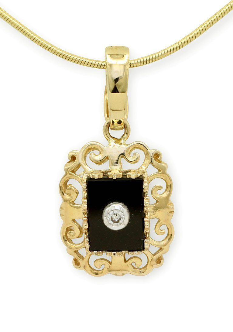 girls love pearls black onyx diamond filigree enhancer