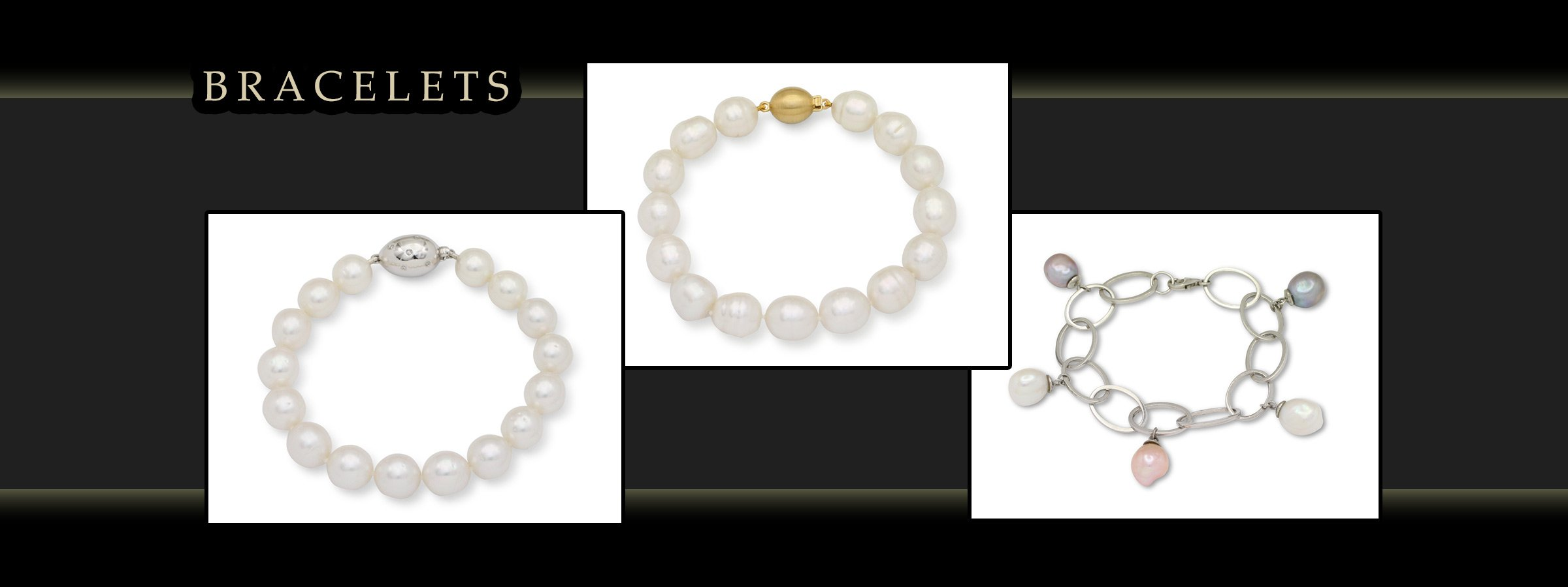 girls love pearls bracelets white and yellow gold