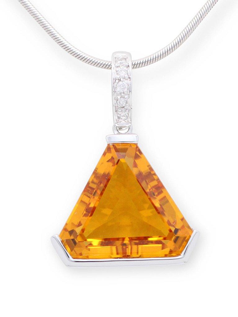 girls love pearls citrine triangle diamond enhancer