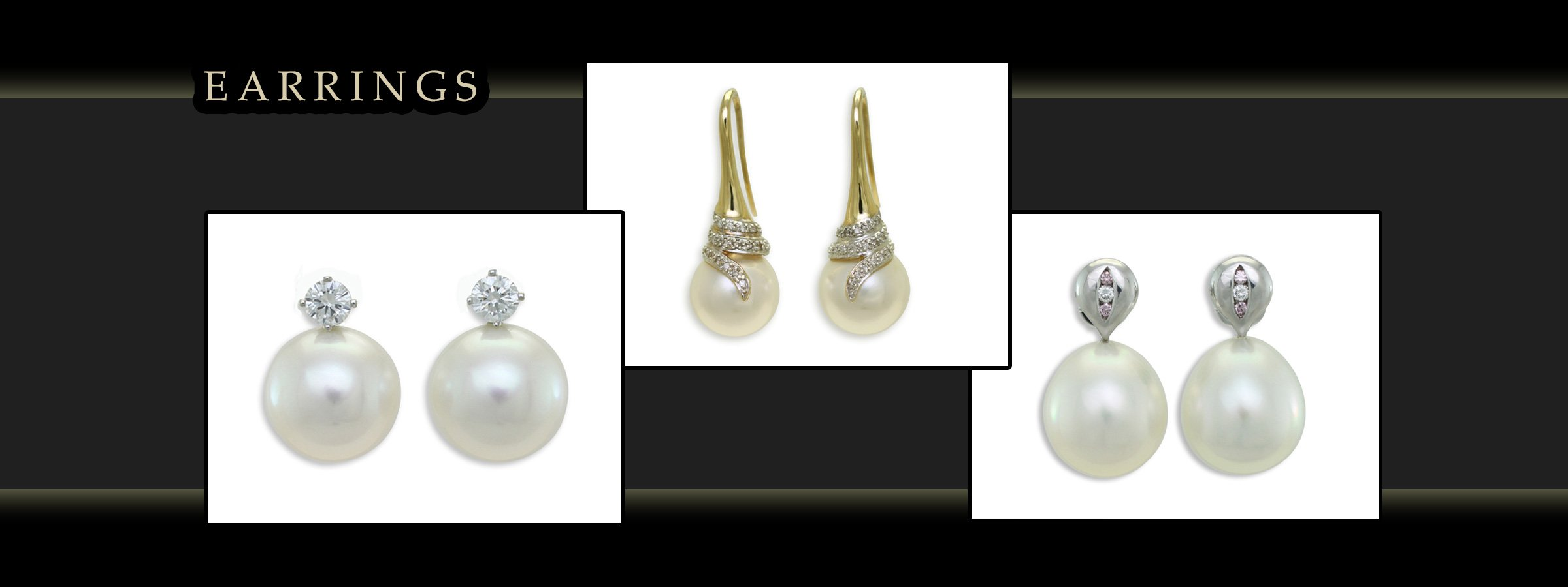 girls love pearls earrings with white and yellow gold images