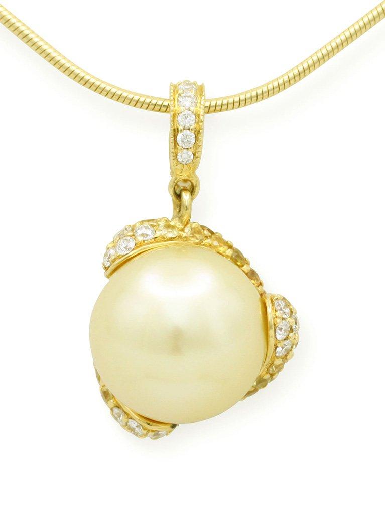 girls love pearls gold pearl yellow sapphire diamond enhancer