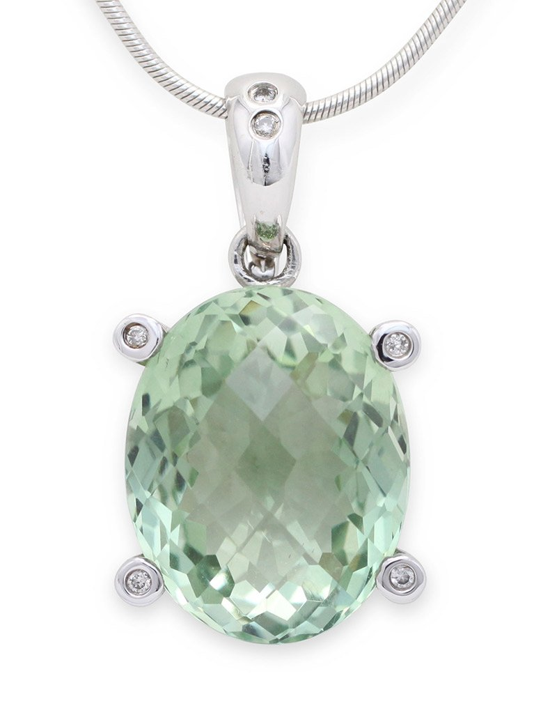 girls love pearls green quartz diamond claw enhancer
