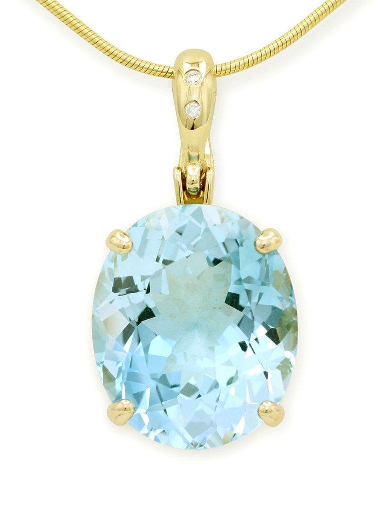 girls love pearls light blue topaz diamond enhancer