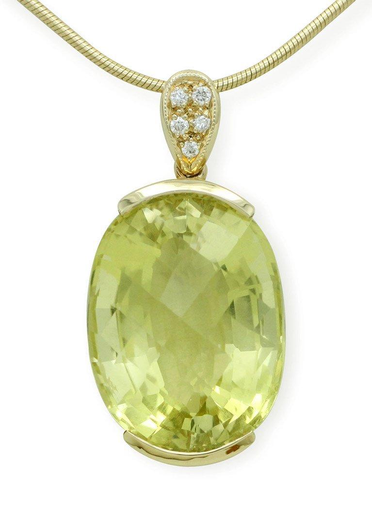 girls love pearls light green quartz diamond pendant