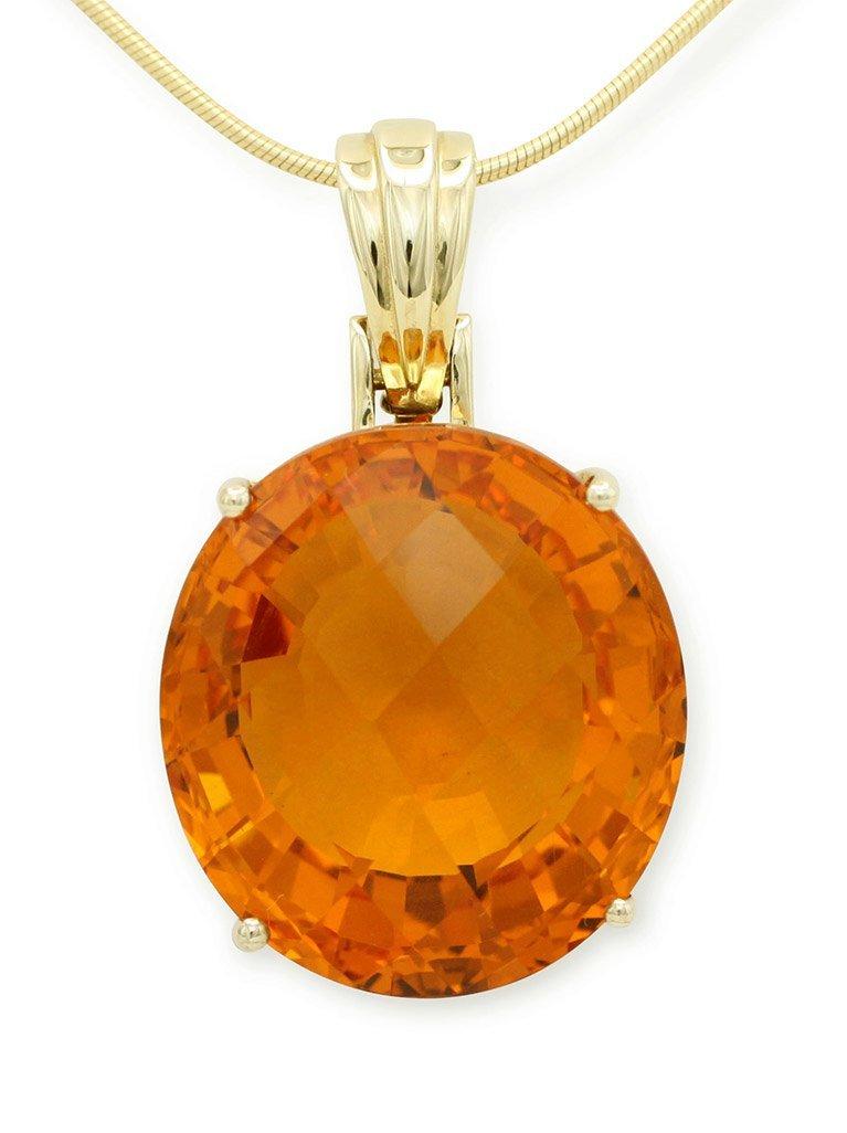 girls love pearls orange citrine pendant