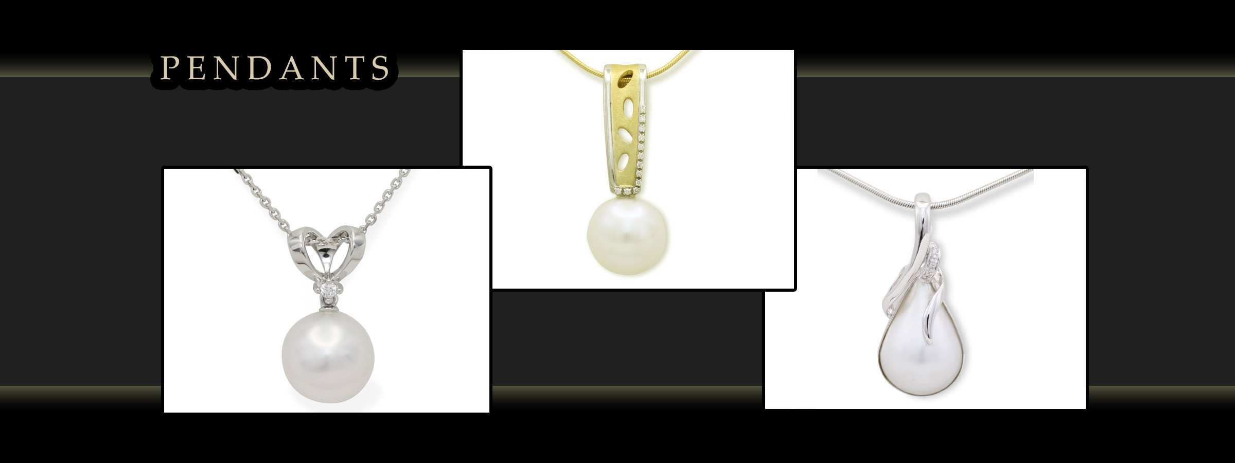 girls love pearls pendants with white and yellow gold images