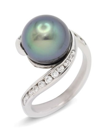 girls love pearls tahitian diamond channel wrap around ring