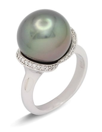 girls love pearls tahitian diamond wrap over shoulder ring