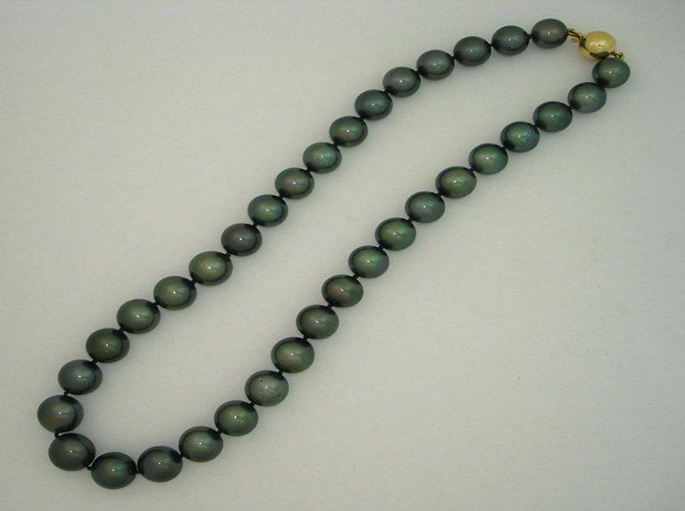 girls love pearls tahitian green colour strand