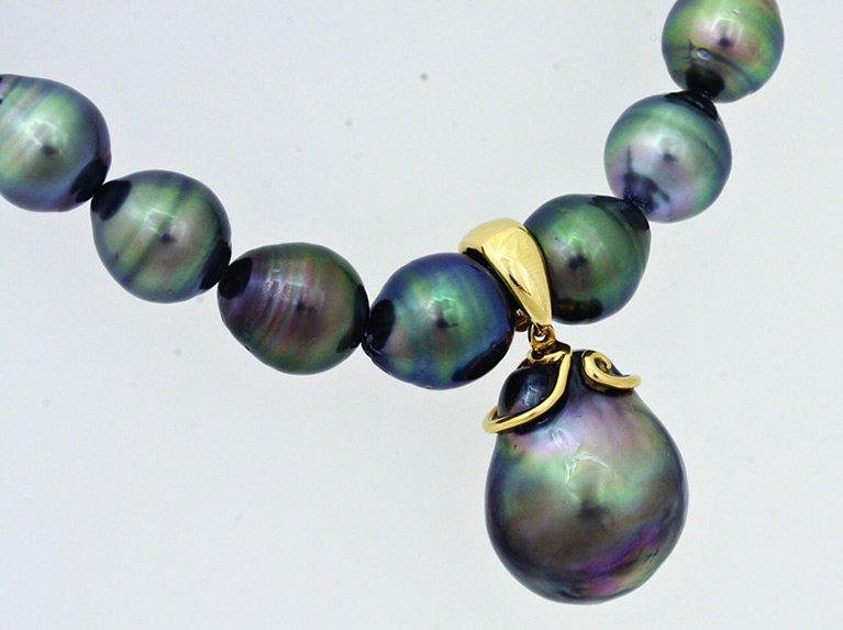 girls love pearls tahitian strand with tahitian enhancer pendant