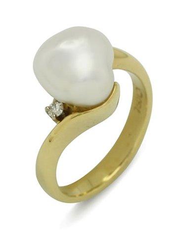 girls love pearls white keshi diamond wrap around band ring