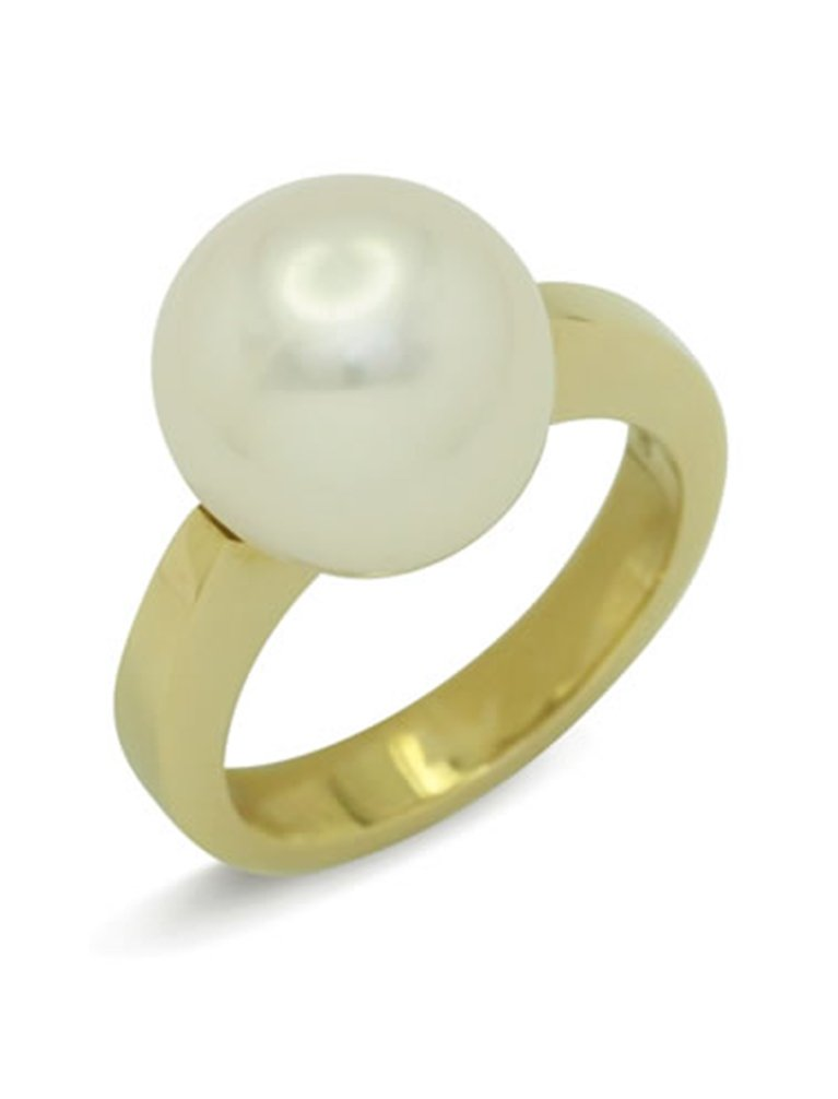 girls love pearls white pearl solid reverse taper band ring