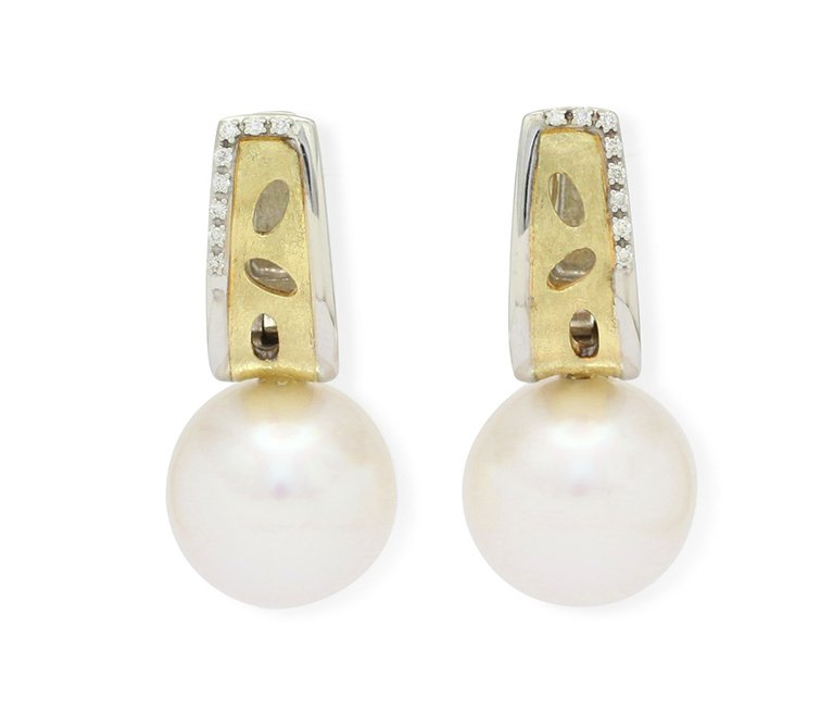 girls love pearls white round south sea pearl princess diamond hook earrings