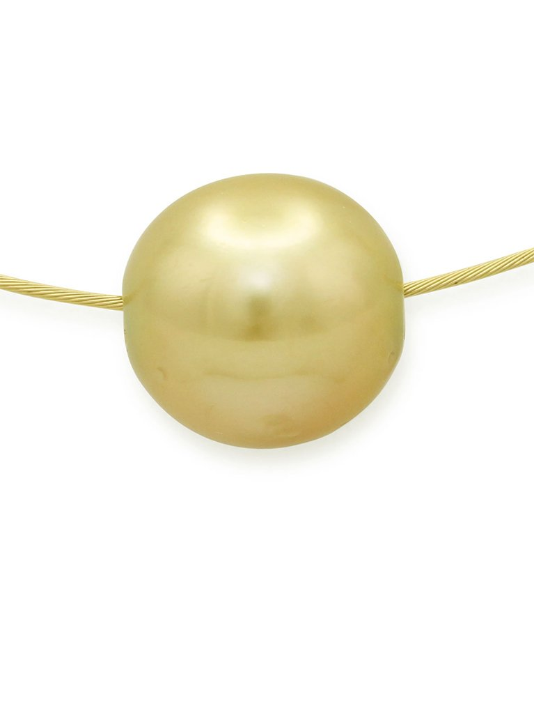 girls love pearls yellow gold gold south sea pearl slider
