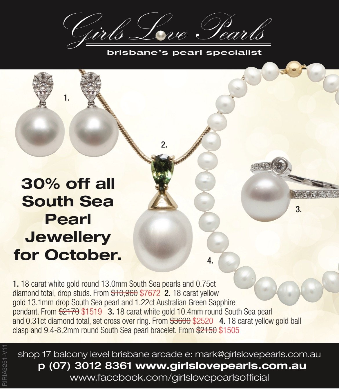 girls love pearls pendant sale ad july style