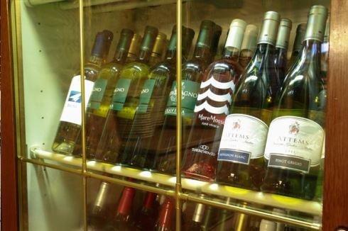 Vetrina dei vini La tana marina