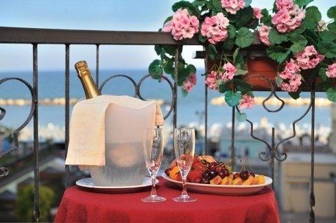 Balcone vista mare Hotel Bristol Bellaria