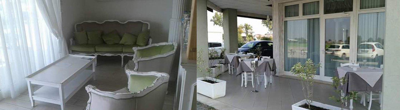 Vista interna del ristorante Il Bistró a Marmirolo