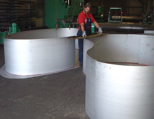 Rolled Stainless Planters