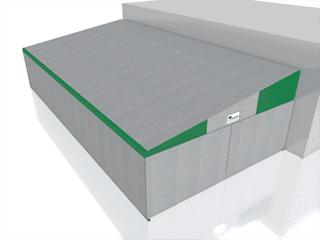 capannone in pvc addossata lateralmente