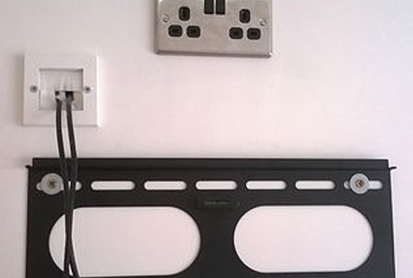 TV mounting panel