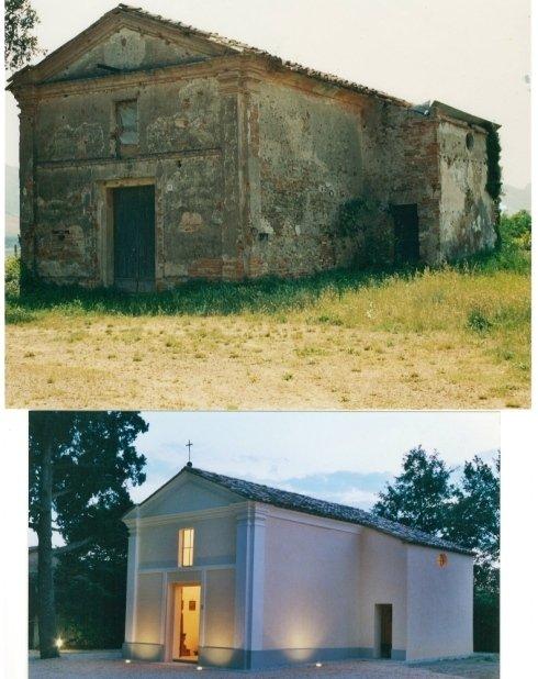 Chiesa del 1800 prima e dopo la ristrutturazione