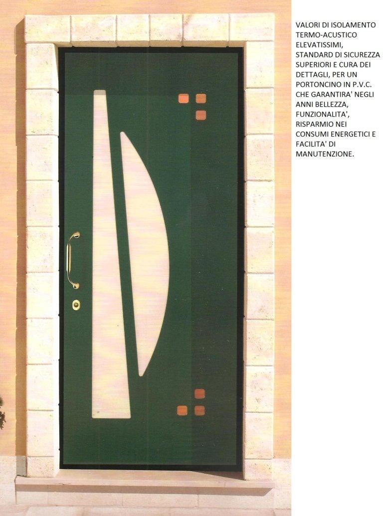 porta colore verde a bianco